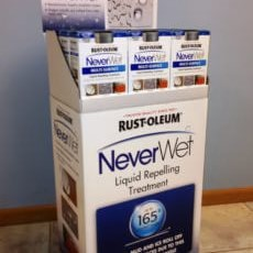 Rustoleum NeverWet display for Home Depot
