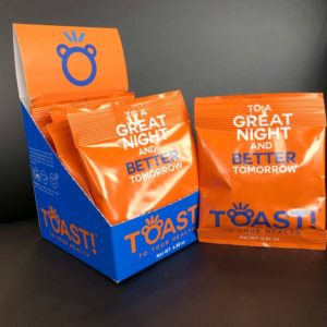supplement packaging toast gummies