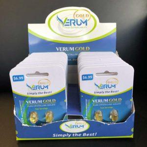 verum gold cbd packaging