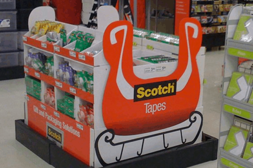 Scotch Tape and Glade: Pallet display